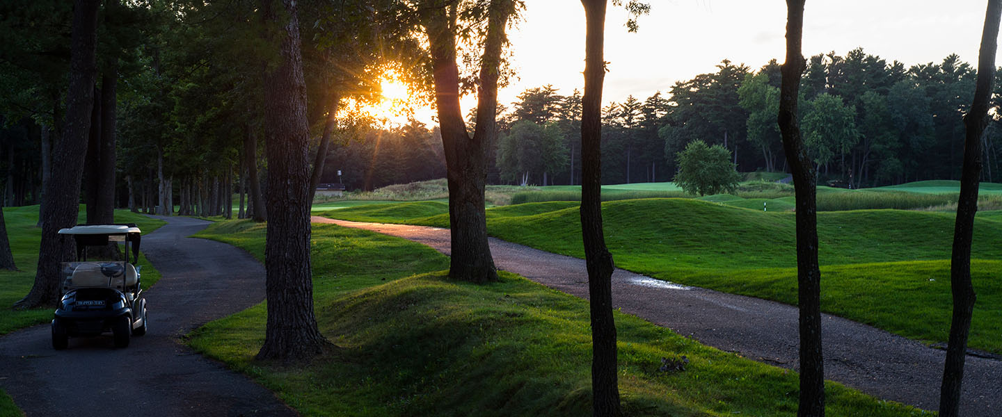 Trappers Turn Golf Course at sunset