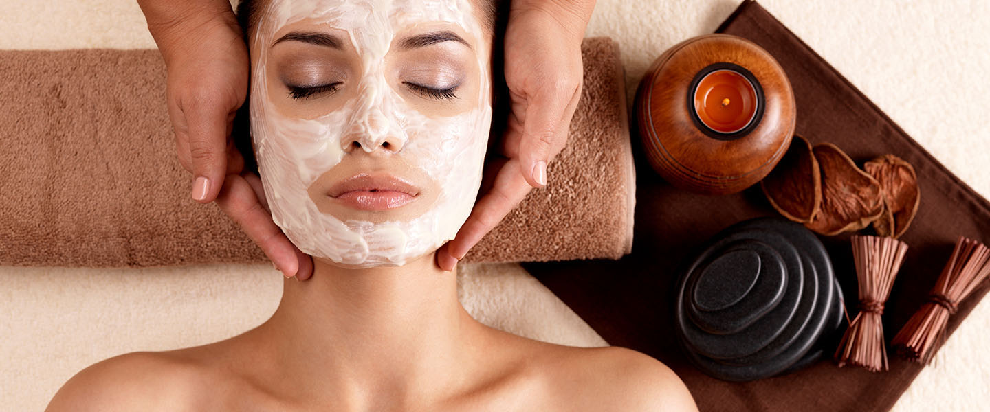 Woman with facial mask at Spa Kalahari