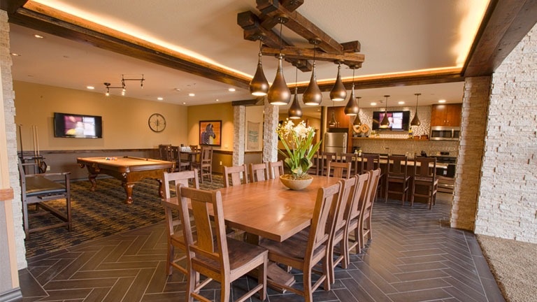 Kitchen and dining area in the Big Five Suite at Kalahari Resorts & Conventions in Pocono Mountains, Pennsylvania