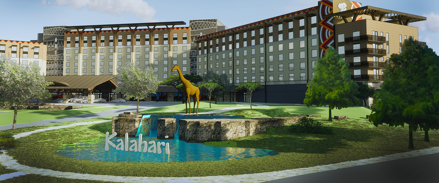 Rendering of Kalahari Resorts and Conventions in Round Rock, Texas