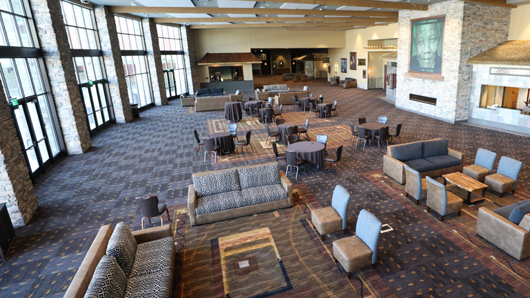 New convention center atrium at Kalahari resorts and conventions in pennsylvnia